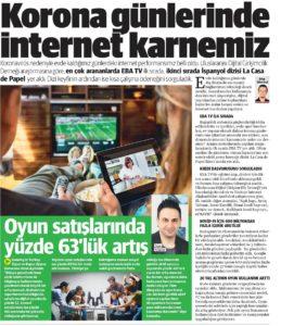 Basında Ozan Aydemir Yeni Şafak 21.04.2020